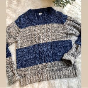 J CREW. Chunky Cable Knit. Size XL